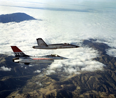 YF-17 and the YF-16 (yacielcruz) Tags: project aviation airplanes orion unknown b2 f22 x33 venturestar