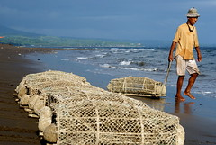 the work day begins (Lori-B.) Tags: beach fisherman philippines maybe fishtraps sibulan abigfave
