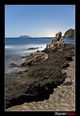 Al fondo Cabo Cope (240 sec) (Carlos J. Teruel) Tags: longexposure mar nikon nightshot paisaje explore murcia nocturna nocturnas d300 supershot 18200vr cabocope calnegre xaviersam