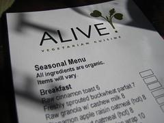 Alive Menu
