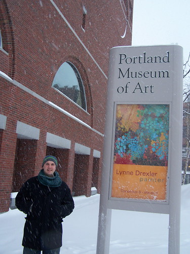 Outside the Portland Museum of Art