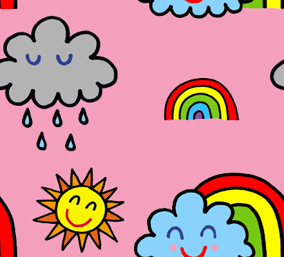 rainbow happy bg