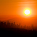 Sunrise over the downtown Los Angeles skyline by secondcareer