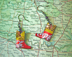 2 Earrngs From ONE Recycled Aluminum Can ~ 4 of 4 photos (Urban Woodswalker) Tags: fashion metal boot cowboy colorful graphic cola recycled handmade coke jewelry earrings crayonbox etsy coca beaded sodapop repurposed reuse cowboyboots danglers redyellow fantabulous upcycled aluminumcans trashion myowndesign urbanwoodswalker softdrnk