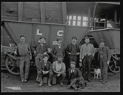 Colliery Officials, Lambton Colliery, Lambton, NSW, 27 May 1897 (Cultural Collections, University of Newcastle) Tags: dog dogs underground australia nsw mines coal miners lambton officials 1897 coalwagons ralphsnowball snowballcollection ralphsnowballcollection asgn0165b7 lambtoncolliery collieryofficials newcastleregionnswhistorypictorialworks photographynewsouthwalesnewcastle railroadsnewsouthwalestrains