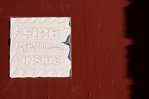 Shhh, Fire Extinguisher Inside