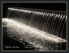 Endless Flow or Flawless end? (Vipula Navinna) Tags: bw reflection water fountain flow blackwhite waves repetition aoi creattivit artofimages