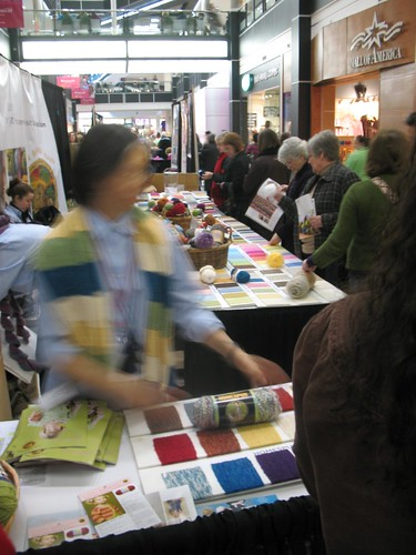 at the Lion Brand Yarn booth