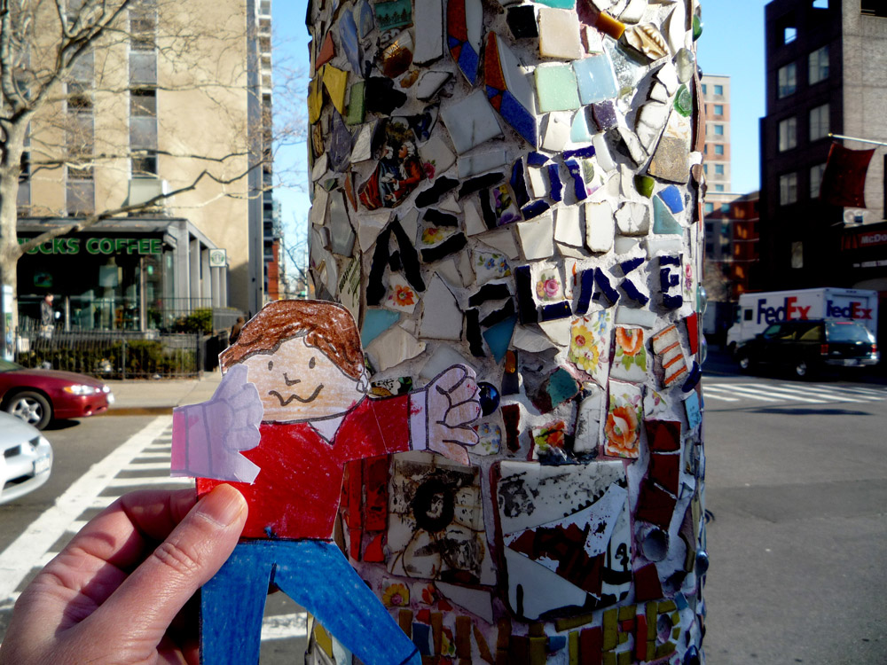 Flat Stanley at Astor Place