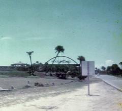 Marineland, 1974 (thisisrobert) Tags: hotel parkinglot arch south pools dolphins sandpiper snackbar approaching a1a performed 3dtheater marinelandofflorida sharktanks