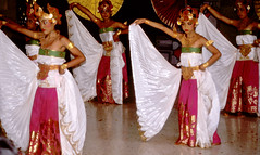 Bali Dancers / Balinese Dance - White Wings (Dominic's pics) Tags: bali orange white yellow indonesia gold golden dance costume wings dancers traditional culture slide scan event filter transparency 1998 noise hindu performer dharma canoscan balinese agama seriousexpression reducenoise balinesedance 8800f agamahindudharma