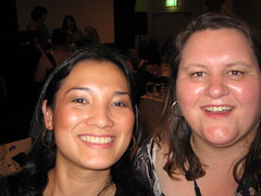At the Gala dinner with Marg from Reading Adventures