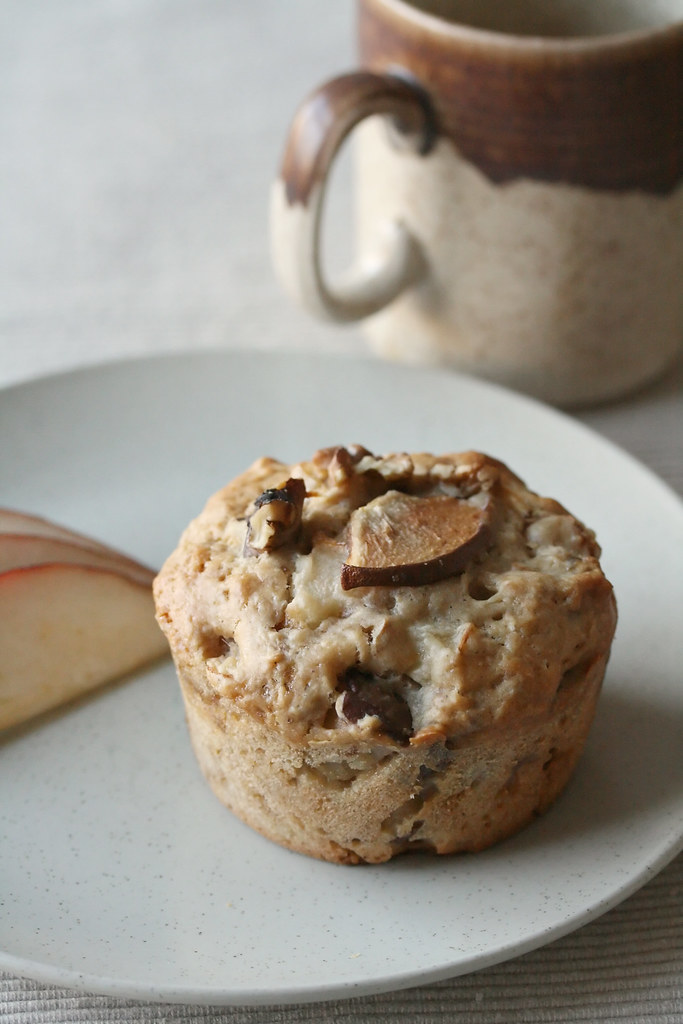 Pear, Ginger and Walnut Muffin