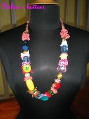 Collana55 (perlineebottoni) Tags: colori particolare perline bottoni nastrini