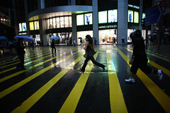Hyper pace (briyen) Tags: life street city people rain hongkong crossing photos crowd central fast down run move hong kong lane pace hurry  pour
