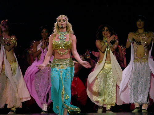 Britney Spears in an Indian ensemble