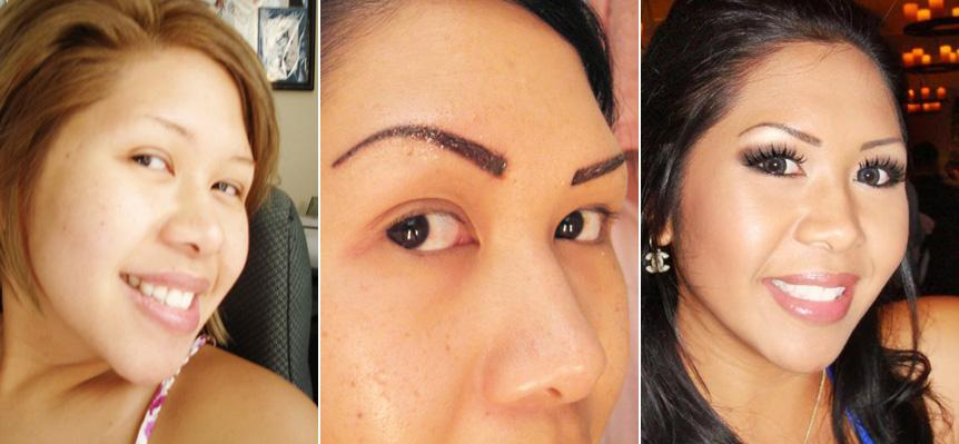 permanent tattoos. Permanent Tattooed Eyebrows