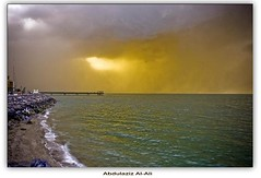 (Abdualaziz Al-Ali) Tags: street city sea rain boat rainy kuwait q8 souqsharq alali  abdulaziz      abdulazizalali