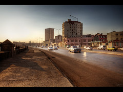 El Malecon (Kaj Bjurman) Tags: street desktop morning wallpaper cars car architecture sunrise early havana cuba colonial large el malecon habana havanna hdr kuba kaj 1920x960 bjurman
