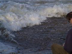 Fliegende Fische in der alten Elbe? (Sonyker) Tags: geotagged wasserfall magdeburg elbe alte cracau geo:lon=1165574312 geo:lat=5211418801