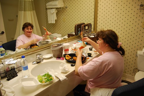 Feast in the bathroom