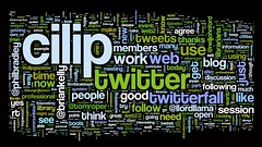Wordle of #cilip2 tweets