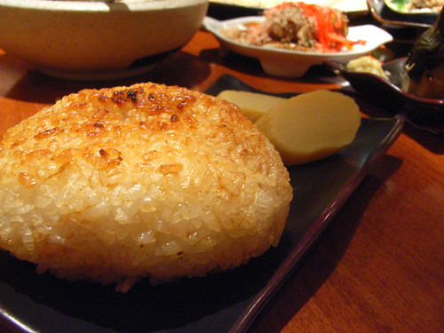 Grilled Onigiri @ Sake Bar Hagi by you.