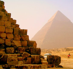 Close & Distant Pyramids (L F Ramos-Reyes) Tags: travel colors stone egypt pyramids soe giza blueribbonwinner anawesomeshot theperfectphotographer goldstaraward rubyphotographer flickraward theauthorsplaza