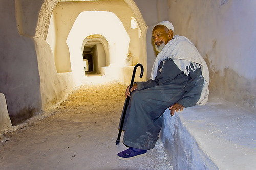 Ghadames غدامس, on his way to jomaa pray, by Mansour Ali