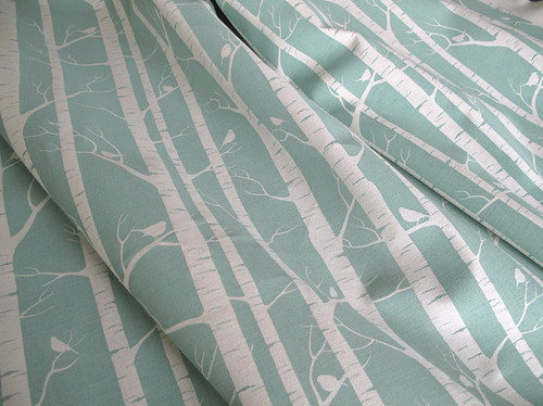 ink and spindle branches fabric