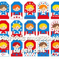patriotic matryoshka (revi1001) Tags: blue red white star design us doll tag patriotic kawaii etsy russian independenceday matryoshka revidevi