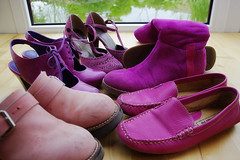 7 - Pink (sew-mad) Tags: pink shoes schuhe sewmad farbebekennen