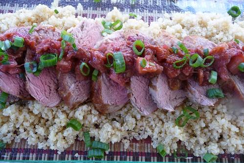 Spiced Rhubarb Chutney (& Pork Tenderloin)