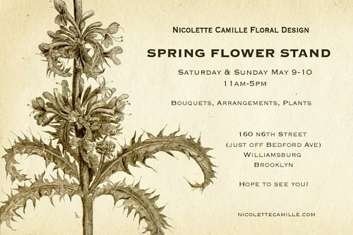 nicollete camille: spring flower stand