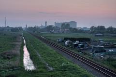 Hoogkerk (The Wolf) Tags: canal factory rails hdr csm suikerfabriek hoogkerk