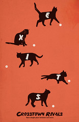 Exits (jon_mutch) Tags: cats black silhouette vintage retro exits rivals crosstown