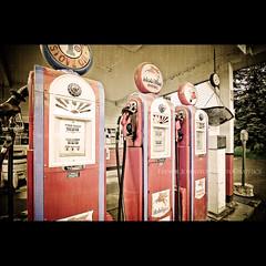 Classical Gas (*trevj (eyemeetsworld.com)) Tags: texture alaska nikon antique mobil gasstation petrol southeastalaska glacierbay gaspumps d300 gustavus fillingstation stoveoil eyemeetsworldcom eyemeetsworldphotography