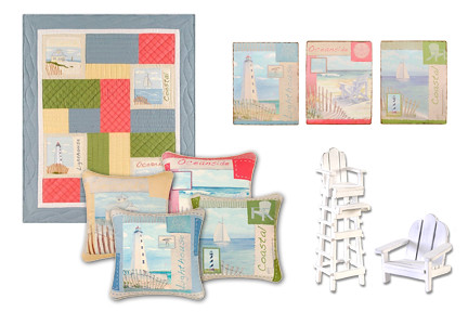 Coastal Collage Home Decor