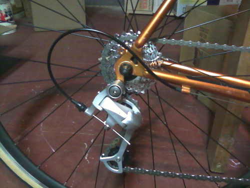 Rear Housing, Derailleur, And Cable