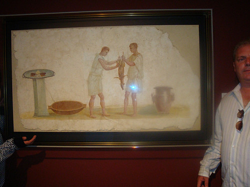 "Joe and the Getty ""Banquet Preparation"" wall painting- Julio Claudian Period"