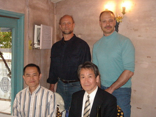 Lunch with John Hamilton Sensei, Kurogo Genji Sensei and Kawamura Sempai