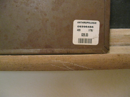 Price Tag from Anthropologie