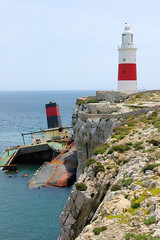 Crash on Point Europa (cwgoodroe) Tags: ocean uk england costa sun lighthouse london castle sol beach beer del square airplane colorful europe wind gib military mosque bobby zane pint gibraltar runway policestation fishandchips territory instalation gibralter moneky fedra europapoint airtower angryfriar 3sheets zanelampry corgovesselsummer vesselcollision