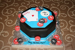 Poker Table Cake (irresistibledesserts) Tags: birthday cake table cards stag chips poker