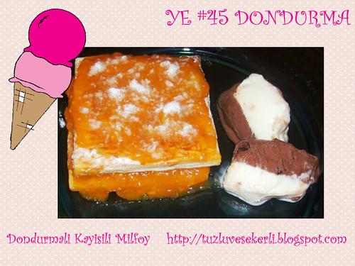 Dondurmali Kayisili Milfoy - Tuzlu ve Sekerli