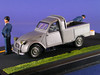 2 CV Pick-up Route bleue Ligne jaune