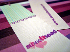 sweethead double-sided hang tags