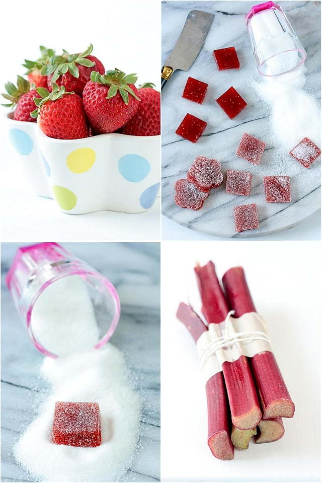 Tartelette: Strawberry and Rhubarb Pate De Fruit