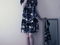 a photograph is a : (miss sundress) Tags: blue white black girl mirror dress quote polka diane dots arbus
