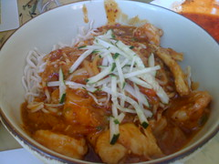 Shanghai House in San Francisco - Dan Dan Noodles with chicken and shrimp